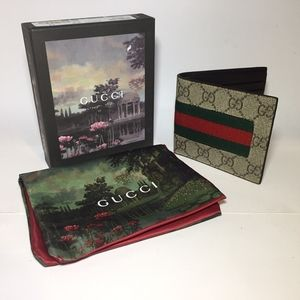 Other - Gucci Ophidia Beige Leather Wallet Authentic